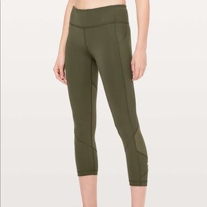 NEW lululemon Pace Rival Crop in Dark Olive